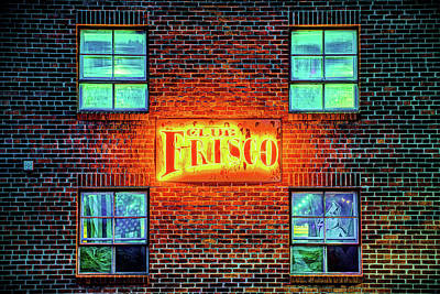 Photograph - Club Frisco Neon - Downtown Rogers Arkansas by Gregory Ballos