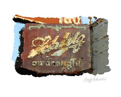 Digital Art - Club Tap Sign by Geoff Strehlow