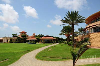 Photograph - Clubhouse And Gardens At The Dha Golf Club Karachi Pakistan by Imran Ahmed
