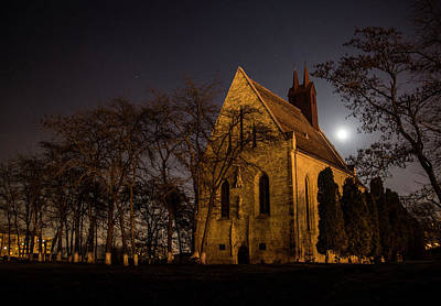 Photograph - Cluj Manastur Calvaria Church Night Shot View From The Southwest Romania by Pan Ioan
