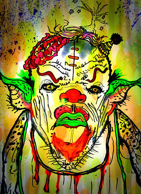 Whimsical Drawing - Clumpy Clown by Jeff Piccolella