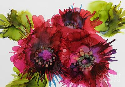 Alcohol Ink Wall Art - Painting - Cluster by Beth Kluth