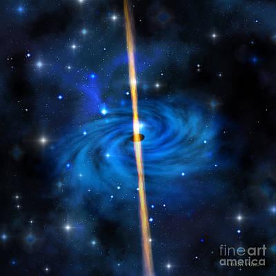 Cluster Galaxy Art Print