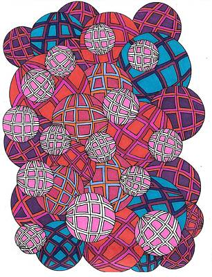 Drawing - Cluster Of Spheres by Roberta Dunn