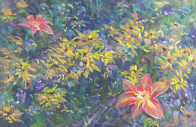 Painting - Clusters by Becky Chappell