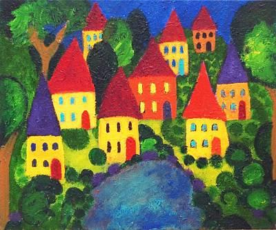 Painting - Clusters by Fran Steinmark