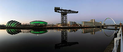 Photograph - Clyde Waterfront After Sunset by Grant Glendinning