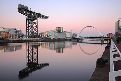 Photograph - Clyde Waterfront Hues by Grant Glendinning