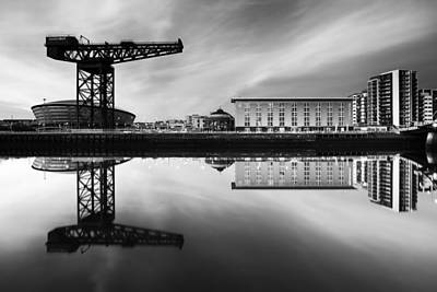 Photograph - Clyde Waterfront Mono by Grant Glendinning