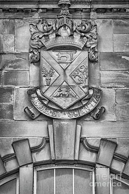 Photograph - Clydebank Crest At Bruce Street Baths Mono by Antony McAulay