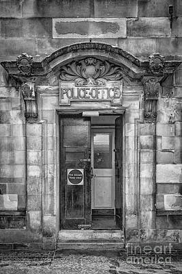 Photograph - Clydebank Former Police Station Entrance Mono by Antony McAulay