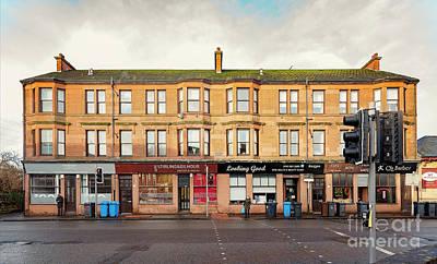 Photograph - Clydebank Sandstone Tenement Kilbowie Road by Antony McAulay