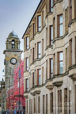 Photograph - Clydebank Town Hall Near Tenement by Antony McAulay