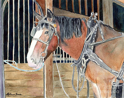 Painting - Clydesdale by LeAnne Sowa