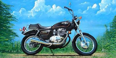 Wall Art - Painting - Honda Cm400e by Peter Ring Sr