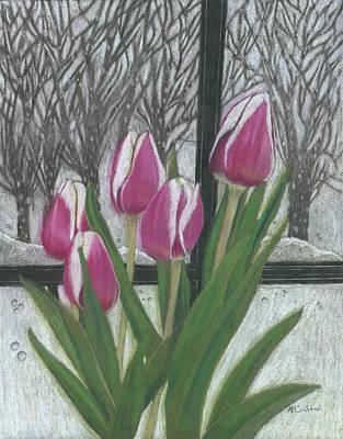 Drawing - C'mon Spring by Arlene Crafton