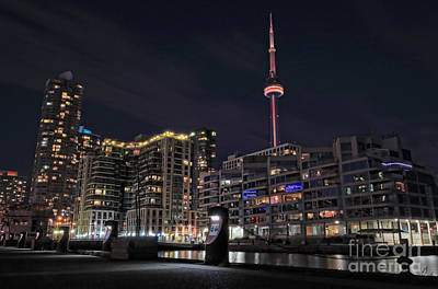 Photograph - Cn Tower And Waterfront Condominium Buildings by Charline Xia