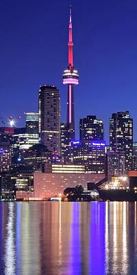 Photograph - Cn Tower At Night by Frozen in Time Fine Art Photography