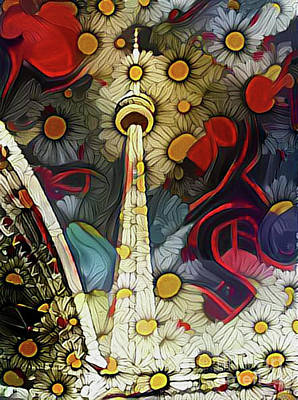 Photograph - Cn Tower Pushing Up Daisies by Nina Silver