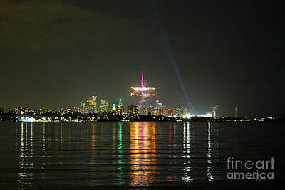 Photograph - Cn Tower With Pan Am Fireworks by Nina Silver
