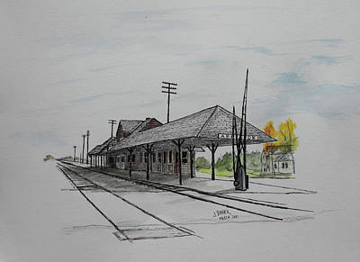 Painting - Cnw Rr Depot Appleton, Wi by Jack G Brauer