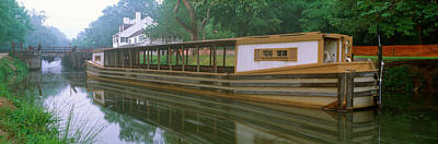 Maryland Photograph - C&o Canal And Canal Boat, Great Falls by Panoramic Images