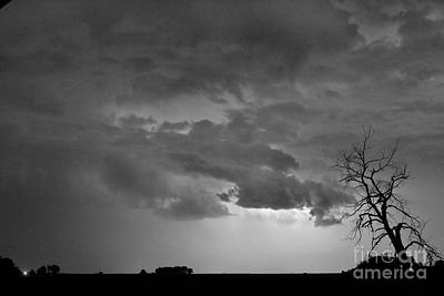 Lightening Photograph - Co Cloud To Cloud Lightning Thunderstorm 27 Bw by James BO  Insogna