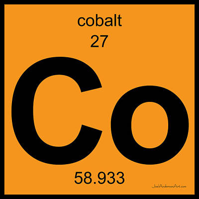 Digital Art - Co Cobalt - Periodic Table Of Elements by Joel Anderson