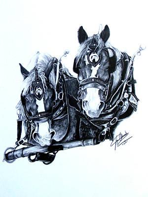 Co Workers Art Print by Paper Horses Jacquelynn Adamek