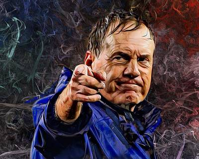 Landmarks Royalty Free Images - Coach Bill Belichick Royalty-Free Image by Scott Wallace Digital Designs