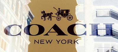 Landscapes Royalty-Free and Rights-Managed Images - COACH New York Sign by Marianna Mills