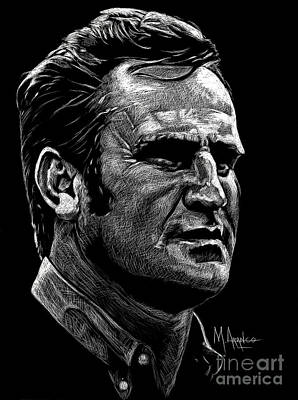 Drawing - Coach Shula by Maria Arango