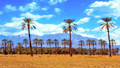 Painting - Coachella Date Palms by Sandra Selle Rodriguez