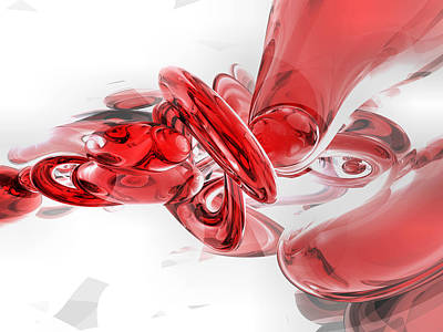 Glass Digital Art - Coagulation Abstract by Alexander Butler