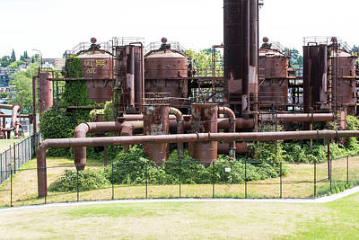 Photograph - Coal Gasification Plant by Tom Cochran