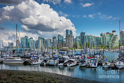 British Columbia Photograph - Coal Harbor Boats by Inge Johnsson