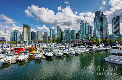 British Columbia Photograph - Coal Harbor by Inge Johnsson