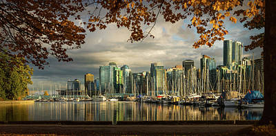 Photograph - Coal Harbor View In Autumn by Peter V Quenter