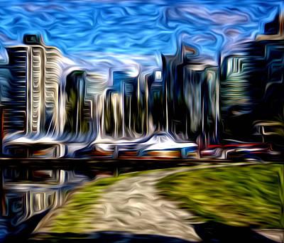 Digital Art - Coal Harbour Buildings by Julius Reque