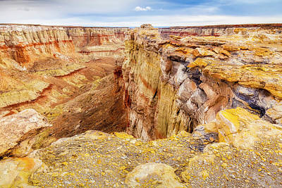 Photograph - Coal Mine Canyon Overlook by David Cote