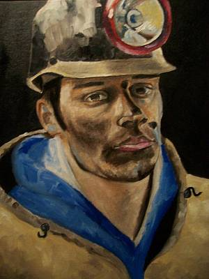 Miners Painting - Coal Miner by Mikayla Ziegler