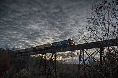 Norfolk Southern Railway Photograph - Coal Norfolk Southern 7679 At Big Clifty Ky by Jim Pearson