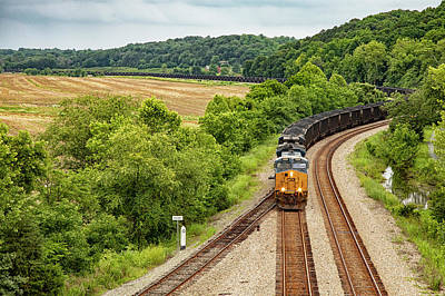 Wall Art - Photograph - Coal Passing By Bremo by Cliff Middlebrook