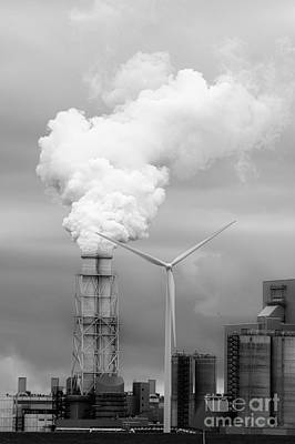 Coal Power Wind Energy Art Print