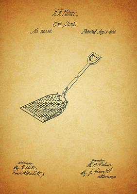 Drawing - Coal Shovel Patent by Dan Sproul