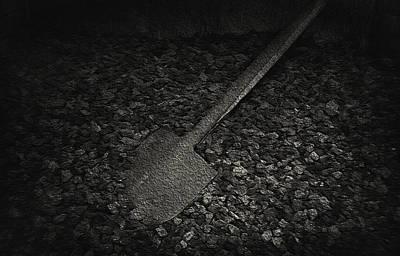Coal Shovel - Pioneer Village Art Print by Steve Ohlsen