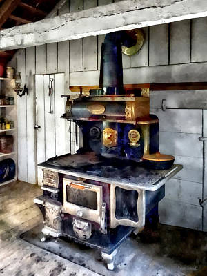 Photograph - Coal Stove In Kitchen by Susan Savad