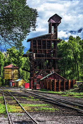Photograph - Coal Tipple - Cumbres And Toltec Railroad by Debra Martz