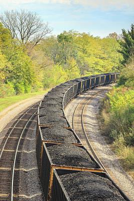 Photograph - Coal Train Around The Bend by Joni Eskridge