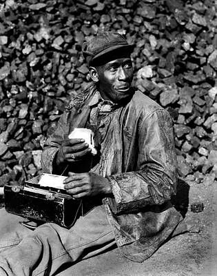 Photograph - Coal Yard Worker - Oak Ridge Tennessee 1945 by Ed Westcott